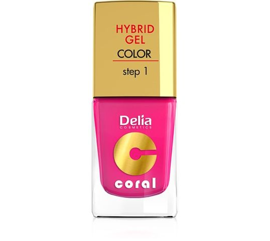 Delia Cosmetics Coral Hybrid Gel Emalia do paznokci nr 03 róż 11 ml
