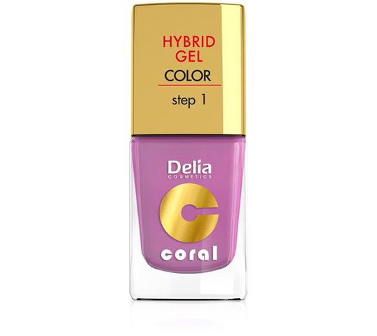 Delia Cosmetics Coral Hybrid Gel Emalia do paznokci nr 05 róż pudrowy 11 ml