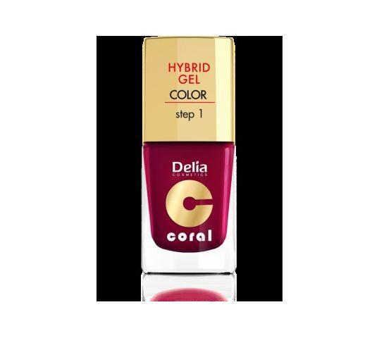 Delia Cosmetics Coral Hybrid Gel Emalia do paznokci nr 12 bordowy 11 ml