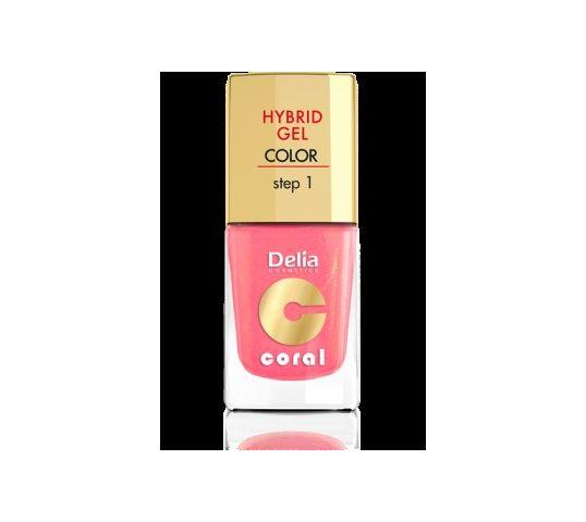 Delia Cosmetics Coral Hybrid Gel Emalia do paznokci nr 16 ciepły średni róż 11 ml