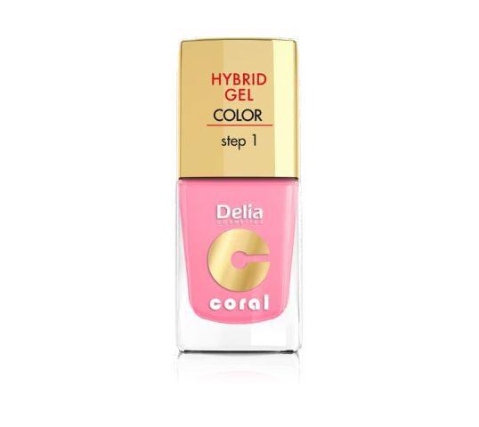 Delia Cosmetics Coral Hybrid Gel Emalia do paznokci nr 24 jasny róż 11 ml