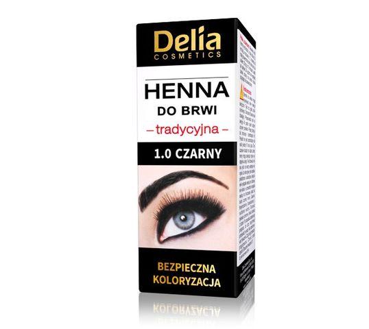 Delia Cosmetics Henna do brwi tradycyjna 1.0 Czarna (1 szt.)