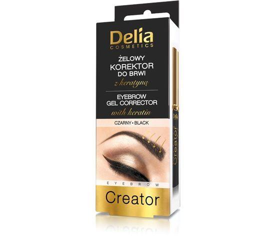 Delia Cosmetics Korektor do brwi żelowy z keratyną czarny (7 ml)