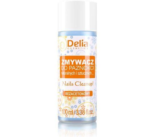 Delia Cosmetics Zmywacz do paznokci naturalnych i sztucznych bez acetonu 100 ml