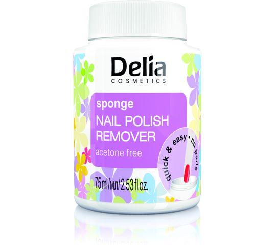 Delia Cosmetics zmywacz do paznokci z gąbką bez acetonu 75 ml