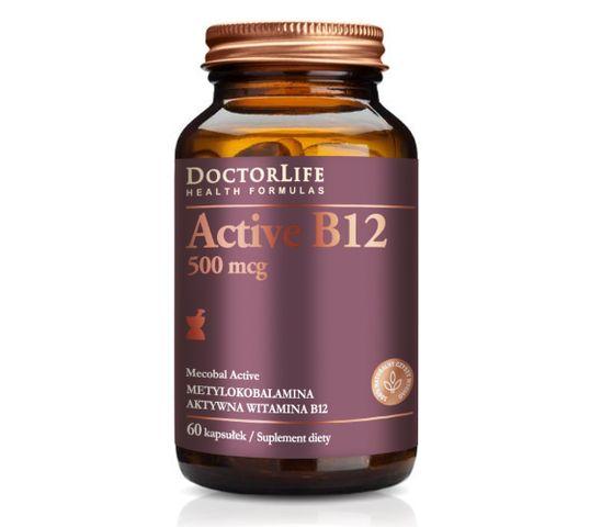 Doctor Life Active B12 aktywna witamina B12 500mg suplement diety 60 kapsułek