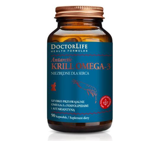 Doctor Life Antarctic Krill Omega-3 szybko przyswajalne omega-3 z fosfolipidami i astaksantyną suplement diety 90 kapsułek