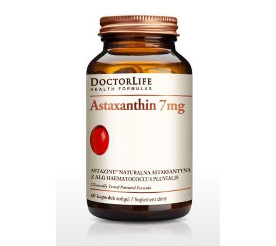 Doctor Life Astaxanthin 7mg naturalna astaksantyna suplement diety 60 kapsułek