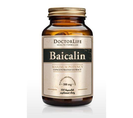 Doctor Life Baicalin tarczyca bajkalska 500mg suplement diety 100 kapsułek