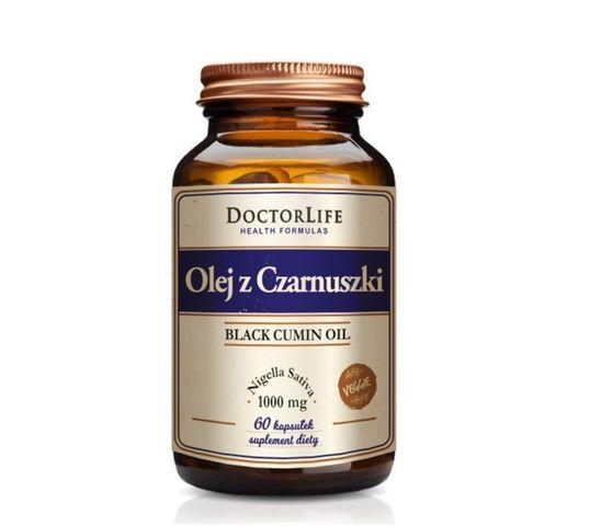Doctor Life Black Cumin Oil olej z czarnuszki 1000mg suplement diety 60 kapsułek