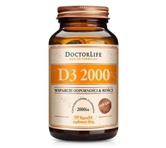 Doctor Life D3 2000 cholekalcyferol z lanoliny 2000iu suplement diety 120 kapsułek