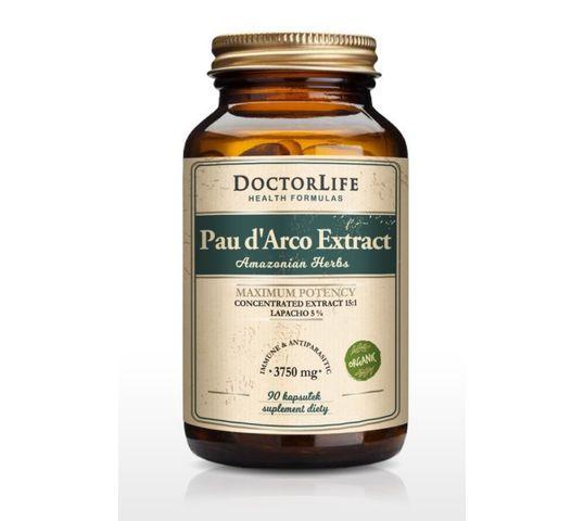 Doctor Life Pau d'Arco Extract ekstrakt z kory wewnętrznej 3750mg suplement diety 90 kapsułek
