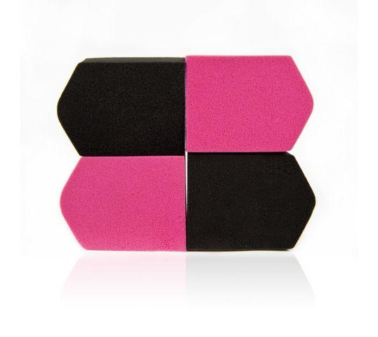 Donegal gąbka kosmetyczna do makijażu czarne i różowe (4307) 1 op. - 4 szt.