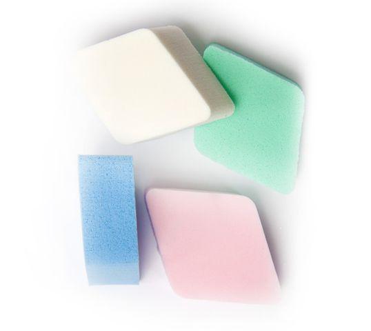 Donegal gąbka kosmetyczna do makijażu kolorowe romby (4306) 1 op - 4 szt.
