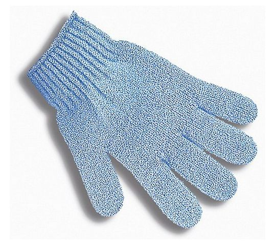 Donegal rękawica do kąpieli 5 palców niebieska (9687) 1 szt.