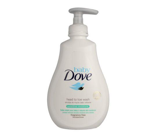 Dove Baby Emulsja nawilżająca do mycia ciała i włosów Sensitive dla dzieci 400ml