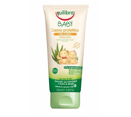 Equilibra Baby Gentle Protective Cream delikatny krem ochronny do twarzy i ciała 0m+ (100 ml)