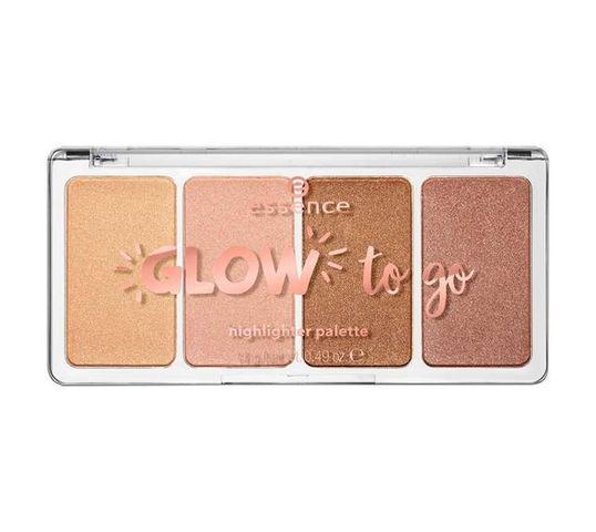 Essence Glow To Go Hlighligher Pallette paleta rozświetlaczy 10 Sukissed Glow 14g