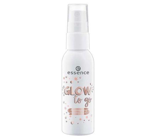 Essence Glow To Go Iluminating Setting Spray rozświetlający spray do utrwalania makijażu 50ml