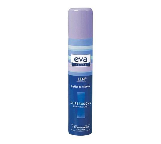 Eva Natura Lakier do włosów super mocny i nabłyszczający z biokompleksem lnianym (200 ml)