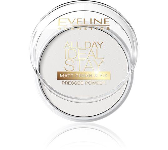 Eveline All Day Ideal Stay – puder do twarzy matujący Matt Finish & Fix (12 g)