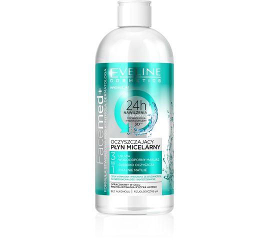 Eveline Facemed+ Oczyszczający Płyn micelarny 3w1 do cery normalnej i mieszanej 400 ml