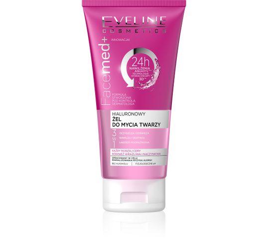 Eveline Facemed+ – hialuronowy żel do mycia twarzy 3w1 (150 ml)