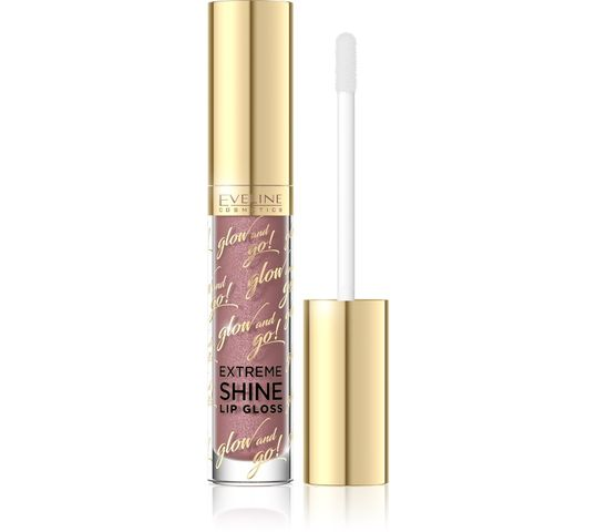 Eveline Glow and Go! – błyszczyk do ust Extreme Shine nr 05 Sparkling Caramel (4.5 ml)