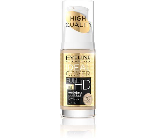 Eveline Ideal Cover Full HD – podkład do twarzy matująco-kryjący nr 201 Ivory (30 ml)