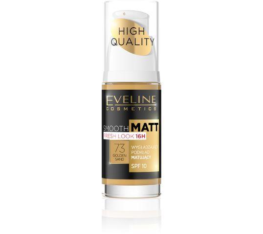 Eveline Smooth & Matt – podkład do twarzy wygładzająco-matujący nr 73 Golden Sand (30 ml)