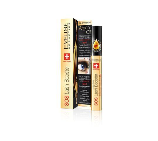 Eveline SOS Lash Booster – odżywka do rzęs 5w1 odbudowująca z olejkiem arganowym (10 ml)