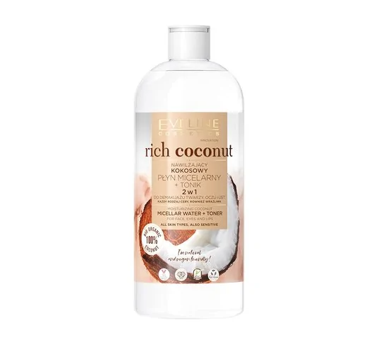 Eveline – Płyn-tonik micelarny Rich Coconut (500 ml)
