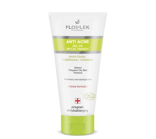 Floslek Anti Acne Program Antybakteryjny Żel do mycia twarzy 200 ml