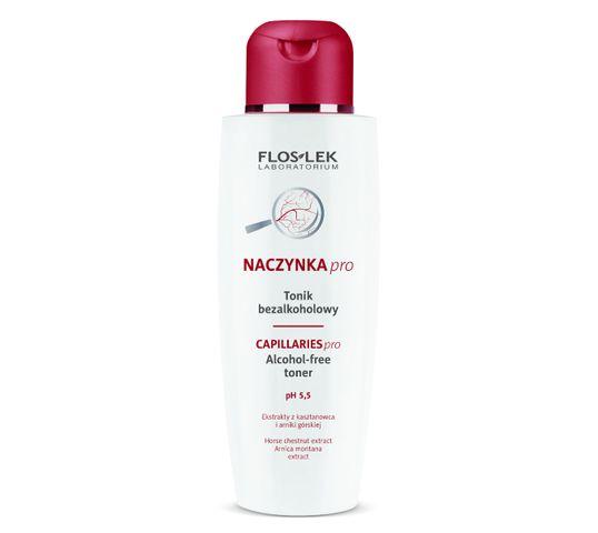 Floslek Pharma Pielęgnacja skóry naczynkowej Tonik do twarzy bezalkoholowy nieperfumowany 200 ml