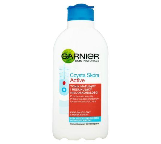 Garnier Czysta skóra Active Tonik do twarzy matujący i redukujący niedoskonałości 200 ml