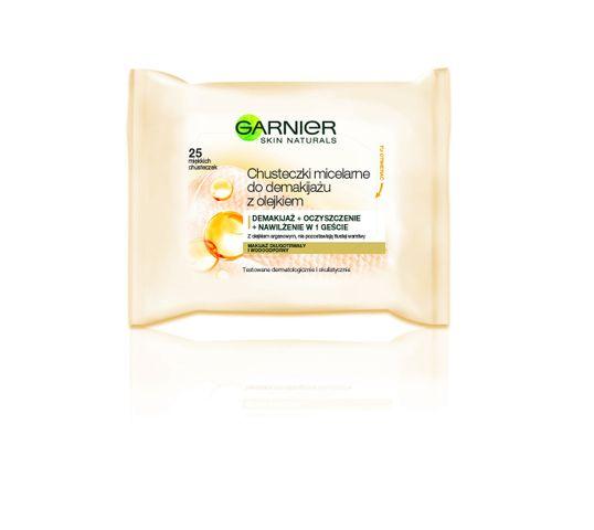 Garnier Skin Naturals Chusteczki micelarne do demakijażu twarzy z olejkiem arganowym  1 op - 25 szt
