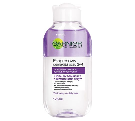 Garnier Skin Naturals Ekspresowy płyn do demakijażu oczu 2w1 125 ml