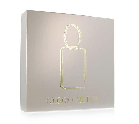 Giorgio Armani Si zestaw woda perfumowana spray 50ml + perfumowany balsam do ciała 75ml + perfumowany żel pod prysznic 75ml