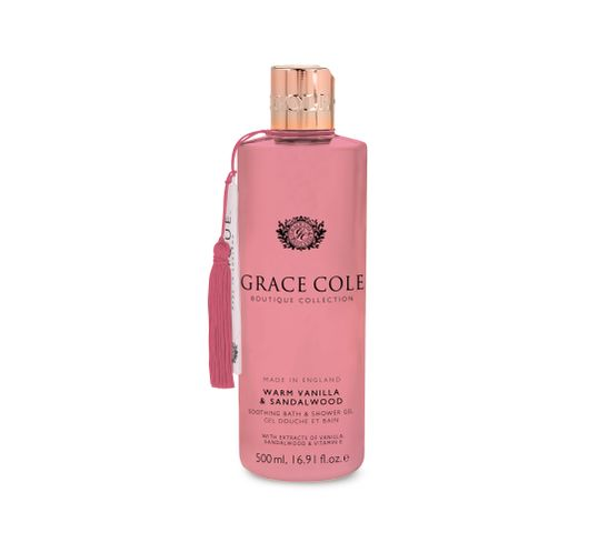 Grace Cole Boutique Bath & Shower Gel żel do kąpieli i pod prysznic Warm Vanilla & Sandalwood 500ml