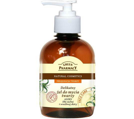 Green Pharmacy Aloes Żel do mycia twarzy do skóry suchej i wrażliwej (270 ml)