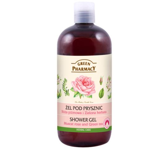 Green Pharmacy żel pod prysznic róża piżmowa i zielona herbata (500 ml)