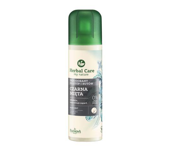 Herbal Care dezodorant do stóp i butów czarna mięta 150 ml