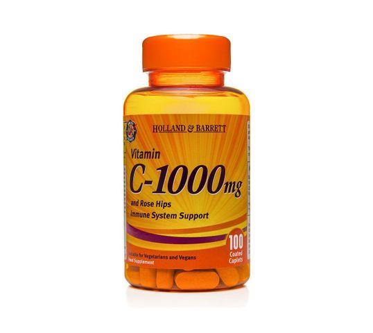 Holland & Barrett Witamina C 1000mg z dziką różą suplement diety 100 kapletek