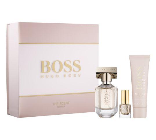 Hugo Boss The Scent for Her zestaw woda perfumowana spray 30ml + perfumowany balsam do ciała 50ml + lakier do paznokci 4,5ml