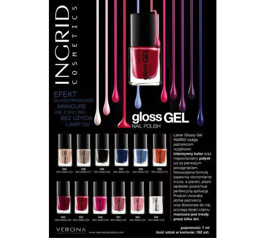 Ingrid Lakier do paznokci żelowy Gloss Gel nr 537 7 ml