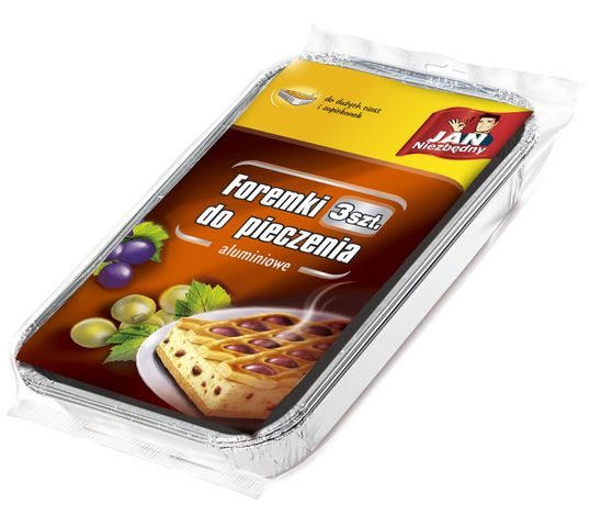 Jan Niezbędny foremki aluminiowe do pieczenia zapiekanek i dużych ciast 3 szt.