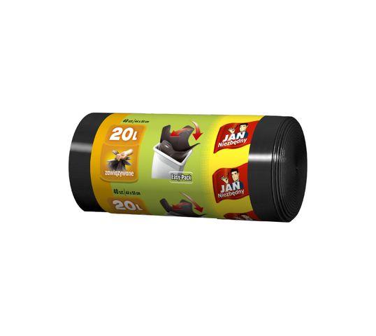 Jan Niezbędny worki na śmieci HD easy pack czarne 20 l 40 szt.