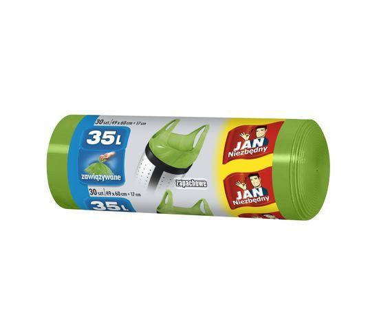 Jan Niezbędny worki na śmieci zapachowe 35 l zielone 30 szt. 1 op.