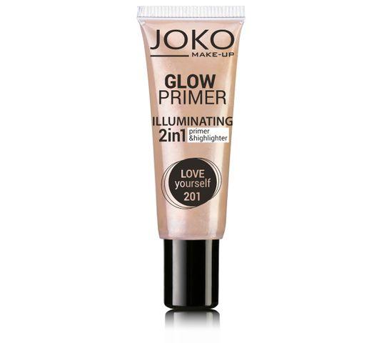 Joko Glow Primer 2w1 emulsja rozświetlająca do twarzy nr 201 Love yourself! 25 ml