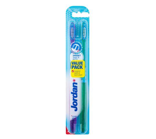 Jordan Duo Target Teeth & Gums szczoteczka do zębów medium 1 op- 2 szt.